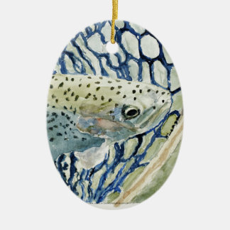 Catch & Release Fishing Designs Ceramic Ornament
