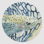 Catch & Release Fishing Designs Classic Round Sticker