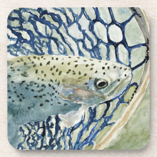 Catch & Release Fishing Designs Drink Coaster