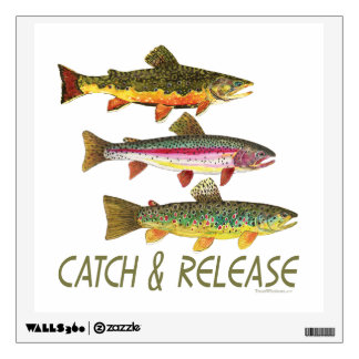 Catch, Release Fishing Wall Decal
