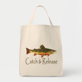 Catch & Release Trout Fishing Grocery Tote Bag