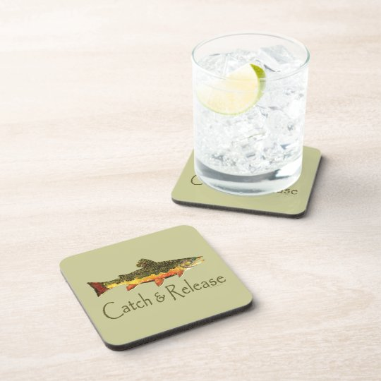 Catch & Release Trout Fishing Beverage Coaster