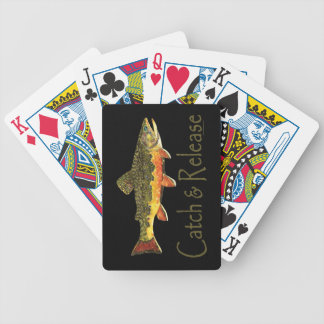 Catch & Release Trout Fishing Bicycle Playing Cards