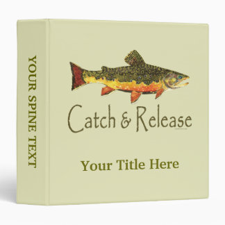 Catch & Release Trout Fishing Binder