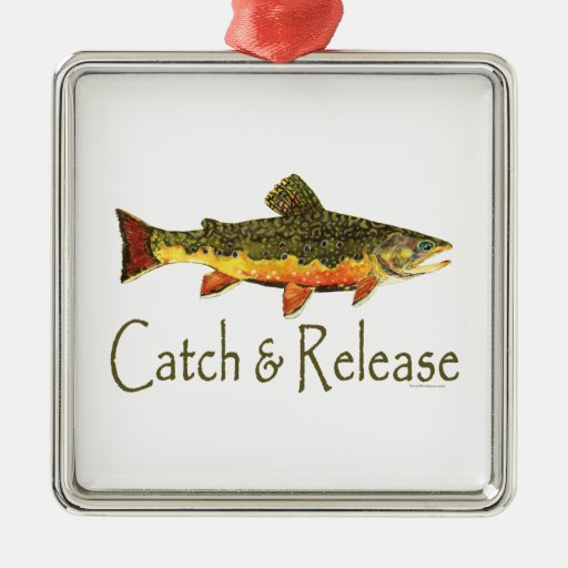 Catch & Release Trout Fishing Christmas Ornament