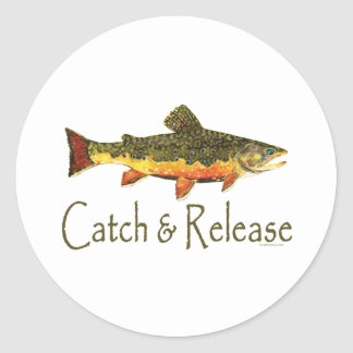 Catch & Release Trout Fishing Classic Round Sticker