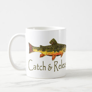 Catch & Release Trout Fishing Coffee Mug