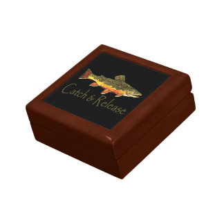 Catch & Release Trout Fishing Jewelry Boxes