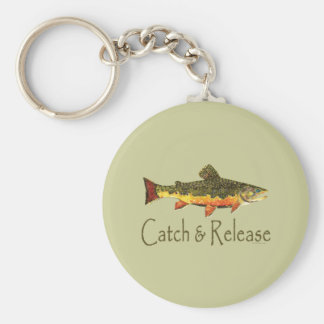 Catch & Release Trout Fishing Keychain