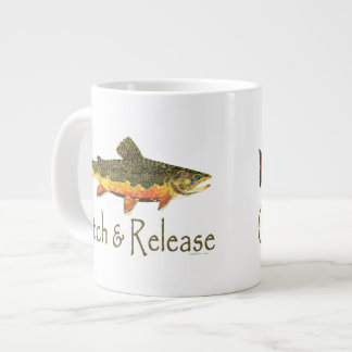 Catch & Release Trout Fishing Large Coffee Mug