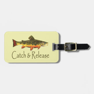 Catch & Release Trout Fishing Travel Bag Tags