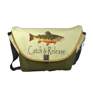 Catch & Release Trout Fishing Messenger Bag