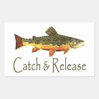 Catch & Release Trout Fishing Rectangular Sticker
