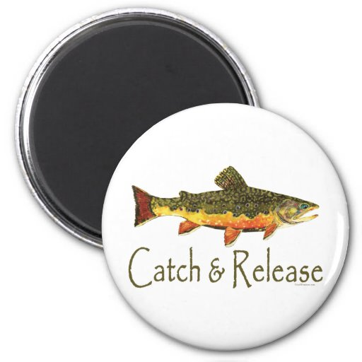 Catch & Release Trout Fishing Refrigerator Magnets