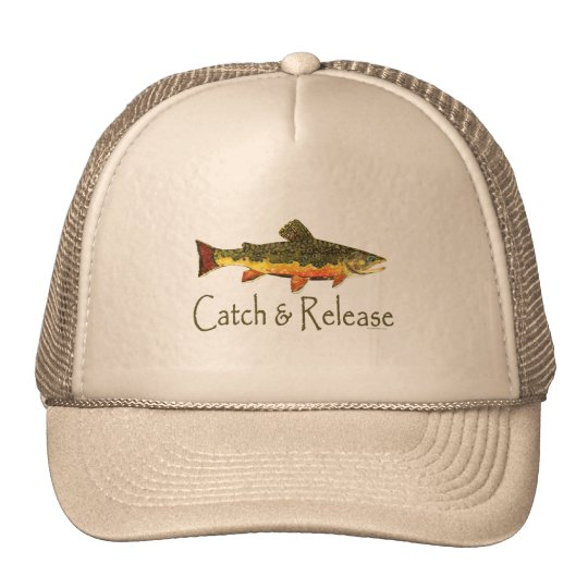 Catch & Release Trout Fishing Trucker Hat