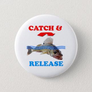 Catch & Release Walleye fishing Button