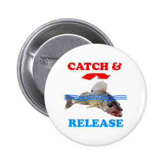 Catch & Release Walleye fishing 2 Inch Round Button