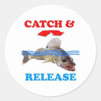 Catch & Release Walleye fishing Round Sticker