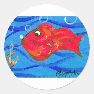 Catch Round Stickers