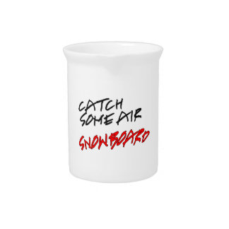Catch Some Air Snowboard Beverage Pitchers