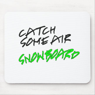 Catch Some Air Snowboard Mouse Pad