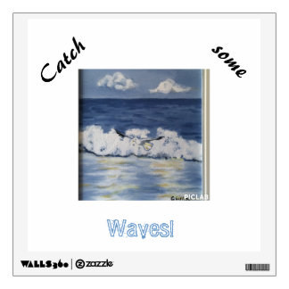 Catch some waves seabird wall decal