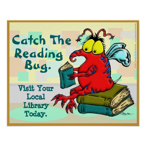 Catch The Reading Bug Print