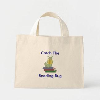 Catch the Reading Bug Tote Mini Tote Bag