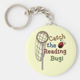 Catch the Reading Bug Tshirts and Gifts Basic Round Button Keychain