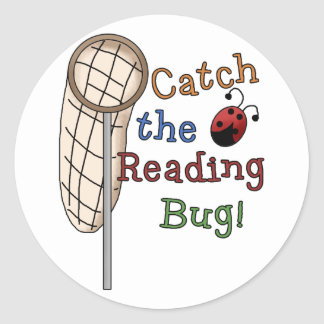 Catch the Reading Bug Tshirts and Gifts Classic Round Sticker