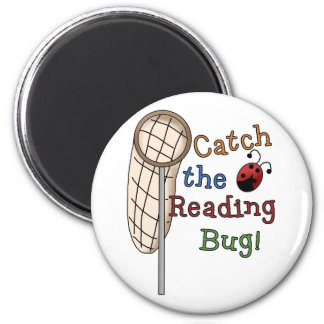 Catch the Reading Bug Tshirts and Gifts Magnets