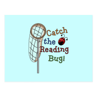 Catch the Reading Bug Tshirts and Gifts Postcard