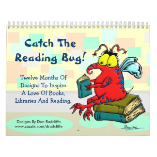 Catch The Reading Bug! Wall Calendar