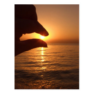 Catch the sun - Orange ocean sunrise Postcard