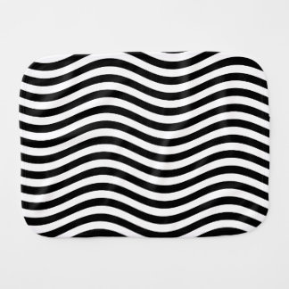 CATCH THE WAVE - BLACK ~ ~ BURP CLOTH