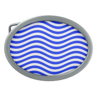 CATCH THE WAVE - BLUE COBBLER ~ ~ OVAL BELT BUCKLE