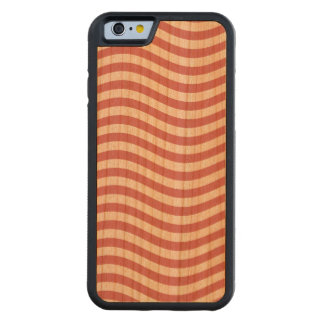 CATCH THE WAVE - CORAL PINK ~ ~ CARVED® CHERRY iPhone 6 BUMPER
