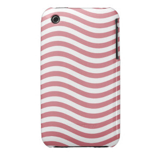 CATCH THE WAVE - CORAL PINK ~ ~ iPhone 3 CASE