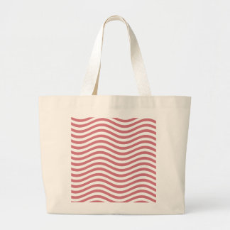 CATCH THE WAVE - CORAL PINK ~ ~ LARGE TOTE BAG