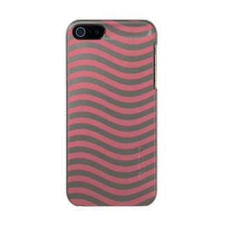 CATCH THE WAVE - CORAL PINK ~ ~ METALLIC PHONE CASE FOR iPhone SE/5/5s