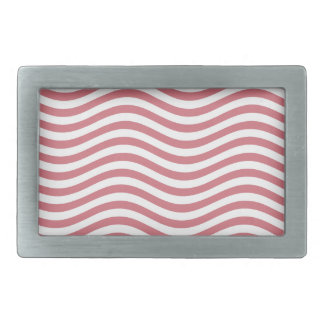 CATCH THE WAVE - CORAL PINK ~ ~ RECTANGULAR BELT BUCKLE