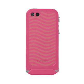 CATCH THE WAVE - CORAL PINK ~ ~ WATERPROOF CASE FOR iPhone SE/5/5s
