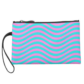 CATCH THE WAVE - EASTER EGG! ~ SUEDE WRISTLET WALLET