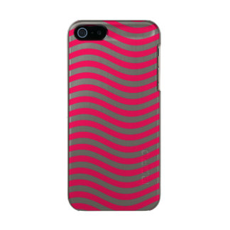 CATCH THE WAVE - HOT PINK ~ ~ METALLIC PHONE CASE FOR iPhone SE/5/5s