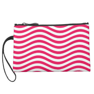 CATCH THE WAVE - HOT PINK ~ ~ SUEDE WRISTLET WALLET