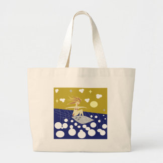 Catch The Wave Large Tote Bag