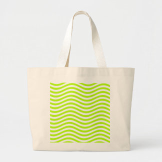 CATCH THE WAVE - LIME GREEN ~ ~ LARGE TOTE BAG
