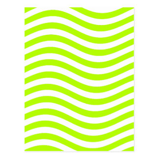 CATCH THE WAVE - LIME GREEN ~ ~ POSTCARD