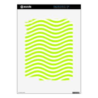 CATCH THE WAVE - LIME GREEN ~ ~ SKIN FOR iPad 2