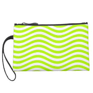 CATCH THE WAVE - LIME GREEN ~ ~ SUEDE WRISTLET